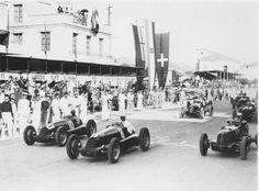 COPA ACERBO (Pescara) 1938 - Alfa romeo 158 #8 of Francesco Severi , Alfa Romeo 158 #10 of Emilio Viloresi