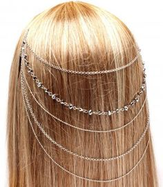 Draping Chains Head Armor Chain Silver Hair Accessory Armour Statement Cage Avant Garde