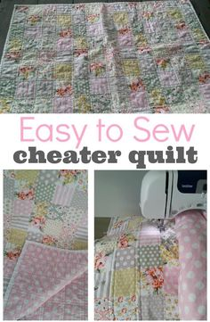 """""""Cheater"""" Baby Quilt Tutorial — This type of quilt is great for the beginner. Whips up in only a few hours!"""