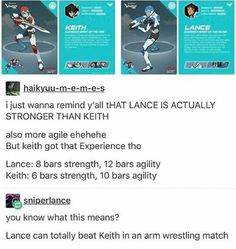 Lance can beat Keith in an arm wrestling match