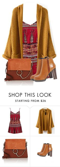 """""""Untitled #134"""" by abriellekitty ❤ liked on Polyvore featuring Boohoo, Chloé and AX Paris"""
