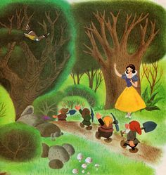 Snow White and the Seven Dwarfs by my vintage book collection (in blog form), via Flickr