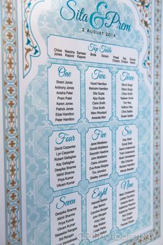 Stunning Asian table plan, to seat your guests in style.  Available in colours to match your theme by wwww.fuschiadesigns.co.uk.
