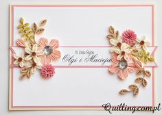 quilling, greeting card, handmade card, wedding