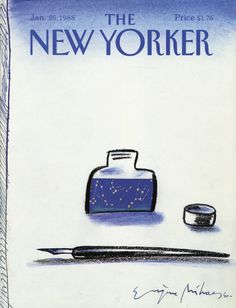The New Yorker - Monday, January 25, 1988 - Issue # 3284 - Vol. 63 - N° 49 - Cover by : Eugène Mihaesco