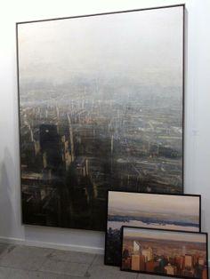 Paisaje a contraluz de Nueva York, de Alejandro Quincoces, en Art Madrid 2014