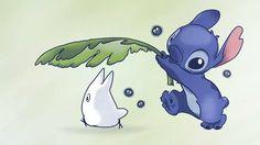 Stitch & mini Totoro