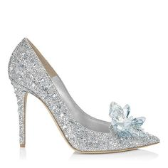 CINDERELLA 110. Cinderella Slipper Pointy Toe Pump in Swarovski Crystals and Shimmer Suede. Discover the exclusive Jimmy Choo designed slipper for Disney's Cinderella.