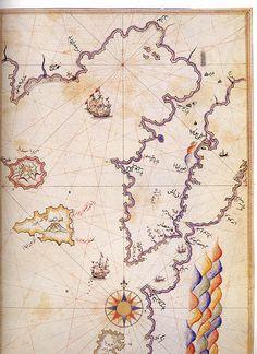 Dardanelles and Gulf of Saros by Piri Reis - Çanakkale - Wikipedia, the free encyclopedia