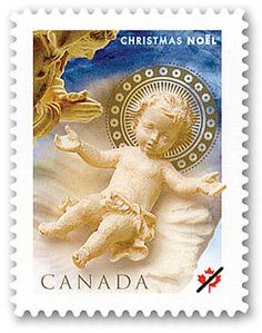Beautifully capturing the Nativity in all its mystery and wonder, this stamp features a Madonna and Child that were engraved from lime wood by Italian-Canadian Divine Mercy Sunday, Canada Christmas, Commemorative Stamps, Postage Stamp Art, Love Stamps, Madonna And Child, Stamp Collecting, Mail Art, Christmas Themes