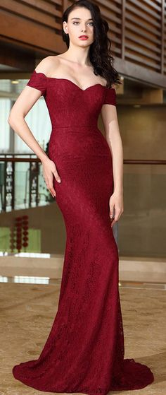 eDressit 2017 designer gown exudes the timeless appeal of floral lace with this burgundy women's dress.