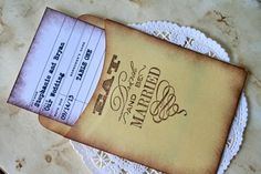Library Card Wedding Place Cards Guest Book by TheSalvage on Etsy, $30.00