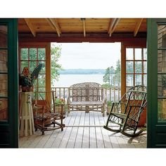 A Rustic Cottage in Maine ❤ liked on Polyvore