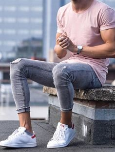 Party Outfit Men Casual Jeans Mens Fashion 49 Ideas For 2019 Lässigen Jeans, Casual Jeans, Men Casual, Fashion 90s, Mens Fashion 2018, Style Fashion, Fashion Ideas, Sneakers Mode, Sneakers Fashion