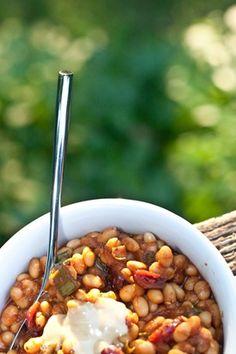 Maple Baked Beans - yum!