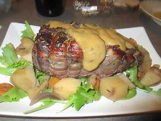 FORNELLI IN FIAMME: ROAST OF PIEDMONTESE FASSONE MARINATED WITH BARBARESCO WINE - Arrosto di vitello marinato al Barbaresco