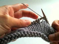 How to join knitted pieces at different directions - YouTube