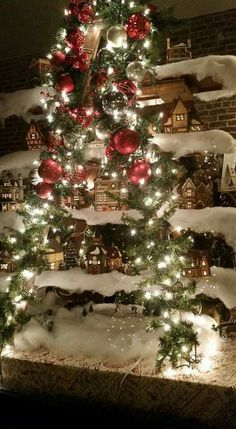 Display of mini light up houses in Boston ga Colorful Christmas Tree, Christmas Decorations, Holiday Decor, In Boston, Light Up, Houses, Display, Mini, Photos