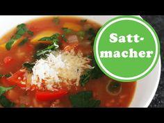 Gefüllte Paprika als Gemüsesuppe | Sattmacher | Weight Watchers | Rezept | Wie abnehmen? - So abnehmen