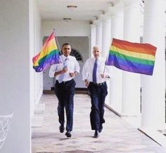 RT @5sose31d: When Obama and Joe Biden ran around the White House with gay pride flags