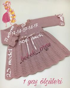 Good evening - I shared the size of the dress before, but re . Good evening ce I had shar. Baby Outfits, Baby Girl Dresses, Crochet Dress Outfits, Diy Crafts Knitting, Baby Knitting Patterns, Crochet Pattern, Crochet Baby, Kids Fashion, The Dress