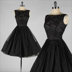 Black Cocktail Dress with Illusion Bodice