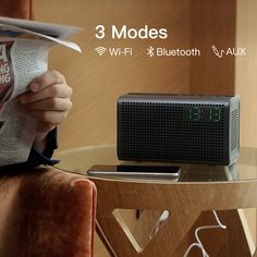 When speaker is connected with WLAN Wi-Fi, it can still play music independently even if the cell phone is power off. Cool Electronic Gadgets, Passive Radiator, Paper Cones, Thanks Card, App Support, Led Projector, Music App, Internet Radio, Bluetooth Speakers