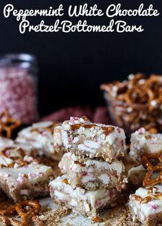 Peppermint+White+Chocolate+Pretzel+Bars