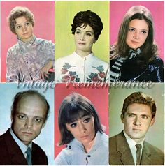 Vintage Soviet Russian Postcards Actors and by VintageRemembrance