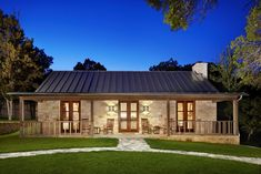 Hill Country Retreat Farmhouse Exterior Houston In Texas Hill Country Ranch Style House Plans Hill Country Homes, Country House Plans, Country Farmhouse, Country Decor, Country Style, Stone House Plans, Farmhouse Decor, Country Porches, Fresh Farmhouse