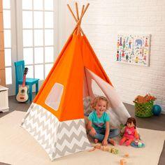 Kids Teepee Orange Play Tent