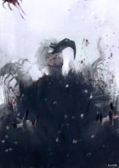 Kaneki | Winter of Crows and Blood by 1llustri on DeviantArt