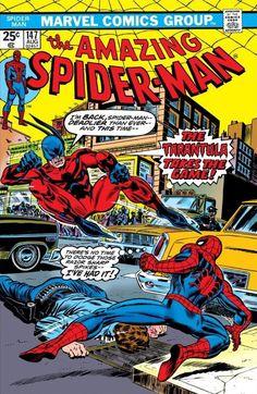 Bronze Age 1975 Amazing Spiderman Comic 147 from Marvel Comics Tarantula Marvel Comics, Hq Marvel, Marvel Comic Books, Comic Book Heroes, Marvel Heroes, Comic Books Art, Comic Art, Book Art, Amazing Spider Man Comic