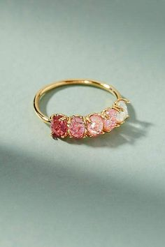 Anthropologie Pink Ombre Birthstone Ring #ad