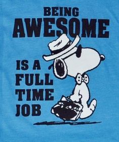 Being awesome is a full time job,