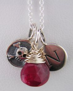 Nebraska Husker charm necklaces. Go Huskers!