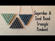 Super Duo triangle necklace w/chain #Seed #Bead #Tutorials