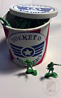 Bucket O Soldiers How To using PLAID® Paints