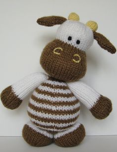 Milkshake the cow knitting pattern....personally I just pinned it because he's cute!