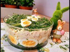 Wielkanocna sałatka jajeczna z szynką i szczypiorkiem #wielkanoc #sałatka #jajka - YouTube Camembert Cheese, Dairy, Impreza, Bruschetta, Recipes, Food, Youtube, Haha, Easter Activities
