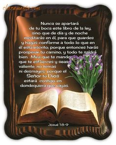 Cuadro rectangular vertical, Josué 1:8-9