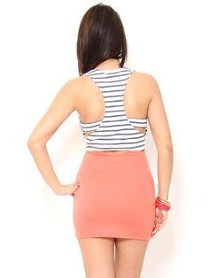 Racerback #Striped Colorblock #Dress