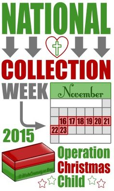 operation christmas child collection week is november - Operation Christmas Shoebox
