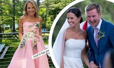 Strapless Dress, Prom Dresses, Formal Dresses, Marchesa Gowns, Katie Couric, Mother Of The Bride Gown, Bride Gowns, Celebrity Houses, Mail Online