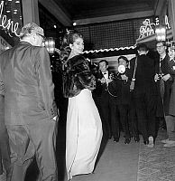 EVGENIA GL LIDO PARIS ONASSIS AND MARIA CALLAS.   Aristotle Onassis and Maria Callas at premiere of Lido cabaret revue december 21, 1966. Full credit: AGIP - Rue des Archives / Granger, NYC -- All Rights Reserved.