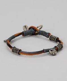 Take a look at this Brown & Gray Amuleti Abundance Bracelet on zulily today!