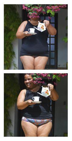 Roupa pra curtir o verão! Regata + Calça (hot pant)  #swimsuit #roupaprabanho #slowfashion