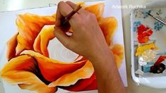 I love to paint flowers and this time it's a big one. I have painted a big rose painting in this video tutorial. I have drawn sketch for the rose and then pa. Acrylic Painting Techniques, Painting Videos, Painting Lessons, Painting For Kids, Painting Styles, Tole Painting, Diy Painting, Painting & Drawing, Acrylic Painting Tutorials