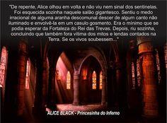 Trecho do livro Alice Black - Princesinha do Inferno