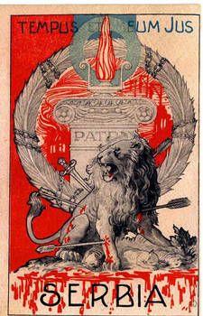 WWI Italy Propaganda Postcard Serbia Lion